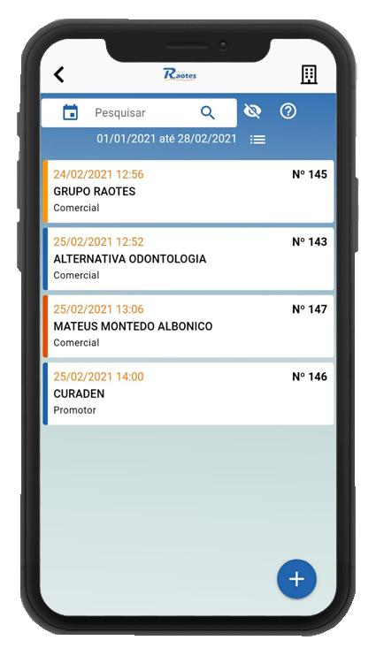 Aplicativo de Controle de Visita Técnica e Comercial WEBGR